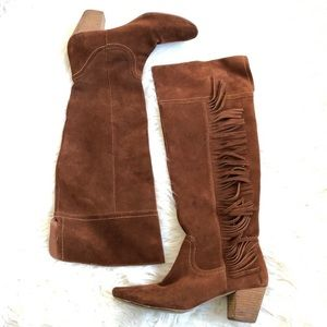 Anthropologie Over the Knee Vegan Suede Boots